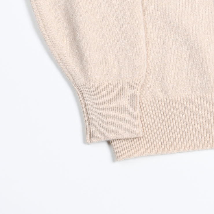 Leven Crewneck sweater in Lambswool - Beige