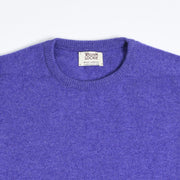 Leven Crewneck Sweater in Lambswool  - Heliotrope