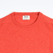 Leven Crewneck sweater in Lambswool  - Inferno