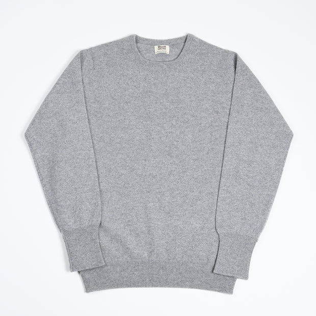 Rob Crewneck sweater in Lambswool - Flannel
