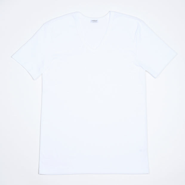 V-neck T-shirt 222 Business Class - White