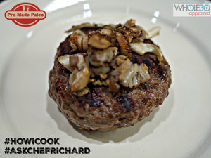 #HOWICOOK Recipe - Grass Fed Beef Burger with Garlic Oyster Mushrooms