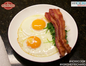 #HOWICOOK Recipe - Sunny Side Up Eggs with Steamed Spinach and Bacon