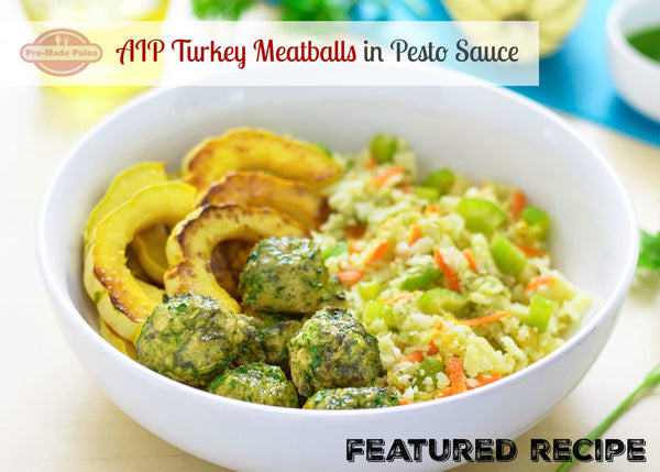 Recipe: AIP Turkey Meatballs in Pesto Sauce