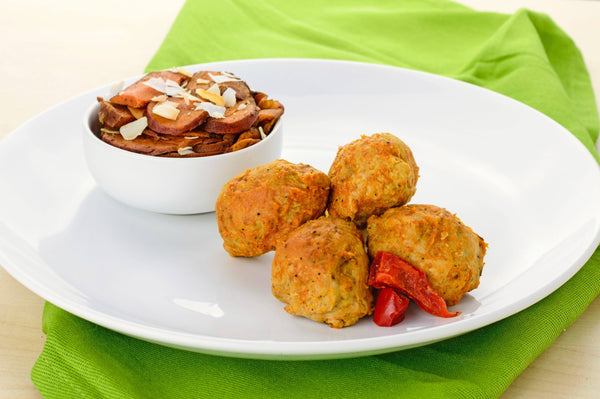 Romesco Turkey Meatballs with Sweet Potatao Hash - Warrior