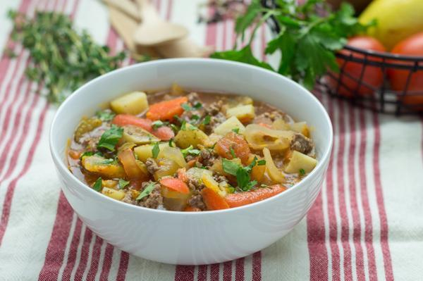 Grass-fed Beef and Organic Vegetable Soup