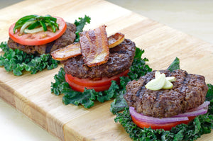 Grass-Fed Beef Burger Sampler - Keto Friendly! (with Keto Buns option available) -  True Fare