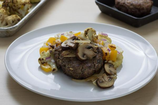 Salisbury Steak with Organic Vegetables Individual Meals True Fare