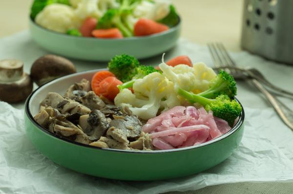 Mushroom Herb Chicken with Organic Vegetables (AIP friendly)