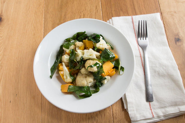 Butternut Squash, Cauliflower and Collard Greens - AIP friendly!