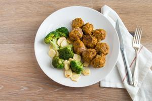 Creole Turkey Meatballs with Organic Cauliflower and Brussels Sprouts - Keto Individual Meals True Fare