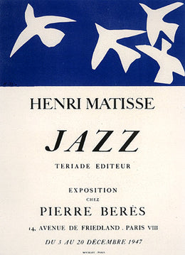 Matisse Jazz, Pierre Beres Gallery.  December 1947