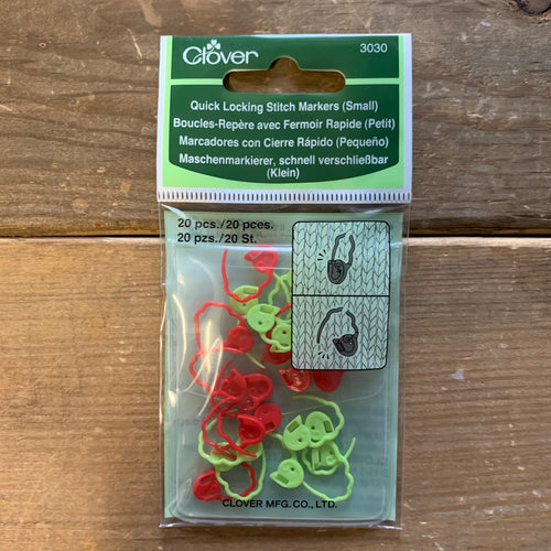 Clover Quick Locking Stitch Markers (Small) - 20 pcs.