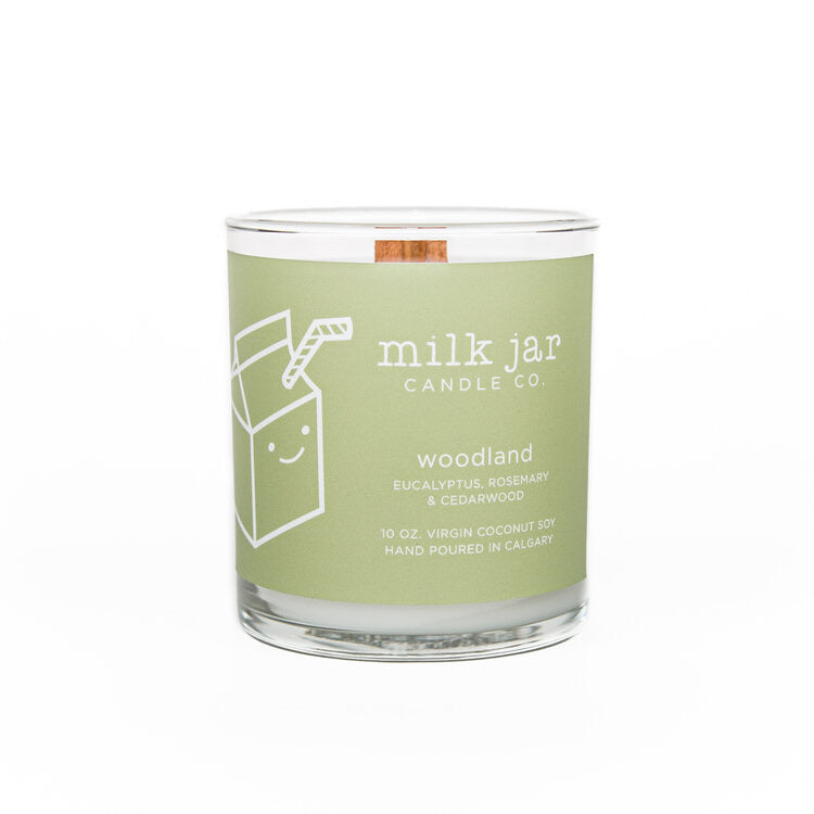 Milk Jar Candle Co. - WOODLAND ESSENTIAL OIL CANDLE