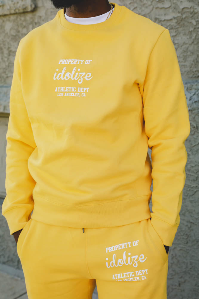 Athletic Dept Crewneck Sweatshirt Mustard