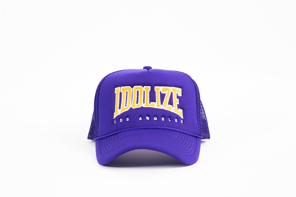 Trucker Hat Purple Yellow