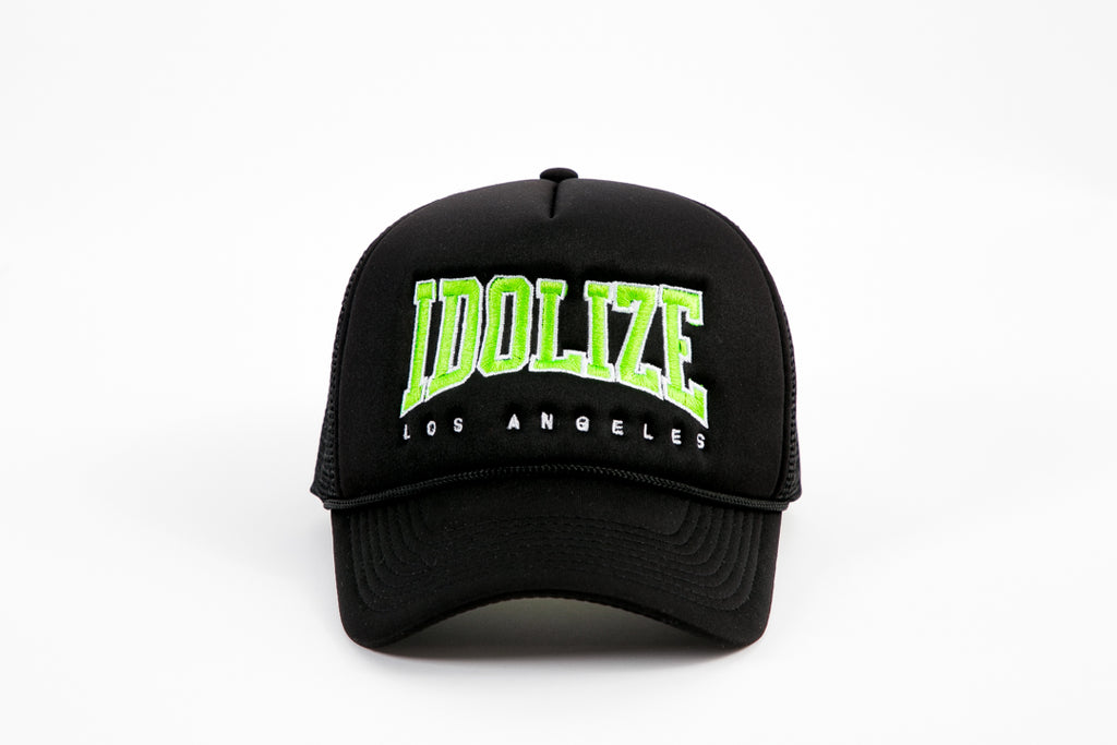 Trucker Hat Black/Lime