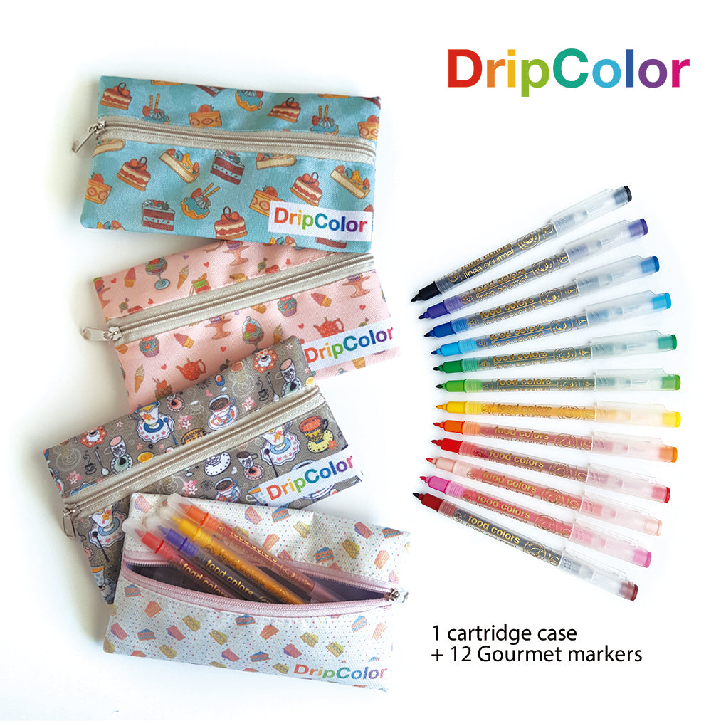 12 Gourmet Markers with Pouch by Dripcolor