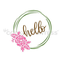 Load image into Gallery viewer, Hello Flowers Wreath 3 Piece Stencil
