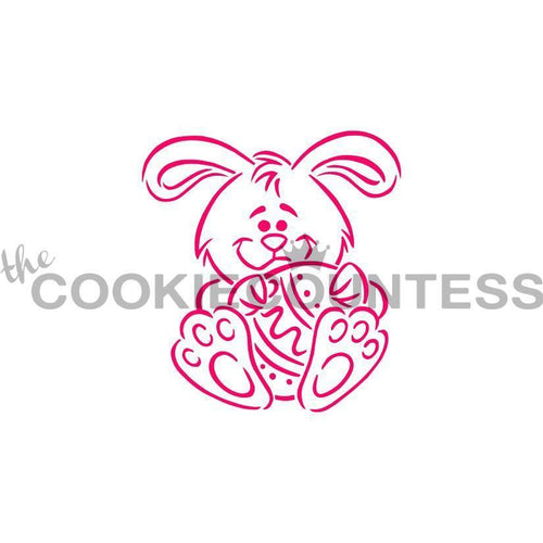 Drawn With Character - Bunny and Egg PYO Stencil