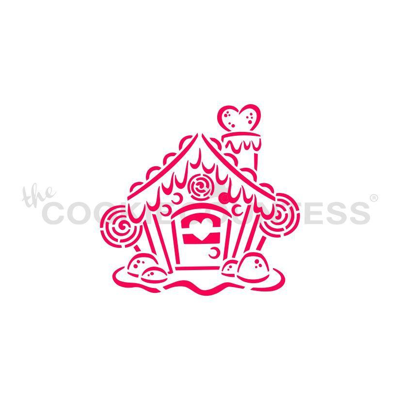 Gingerbread House PYO Stencil - Drawn by Krista