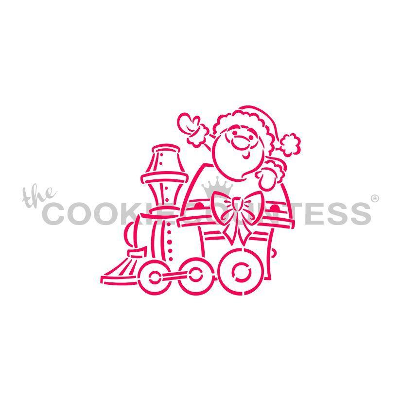 Christmas Train Santa Engine Stencil - Drawn by Krista