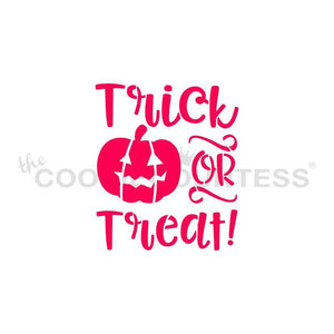 Fun Trick or Treat Stencil