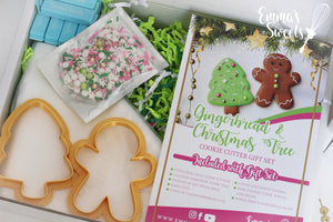 Gingerbread and Christmas Tree Cookie Cutter Gift Set