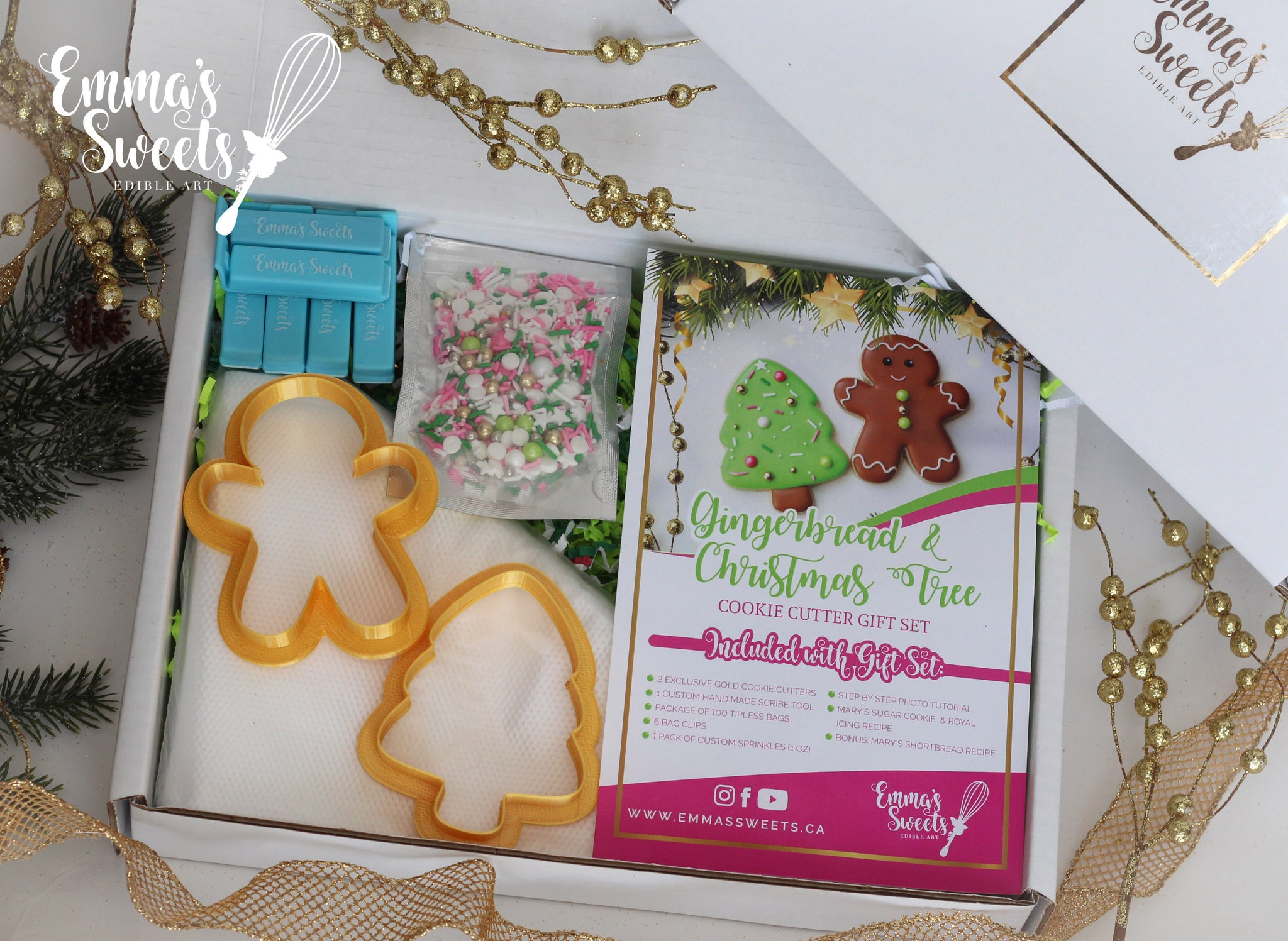 Christmas Set.Gingerbread And Christmas Tree Cookie Cutter Gift Set