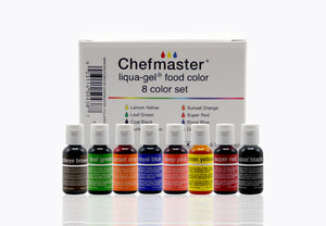 LIQUA-GEL® 8 Color Kit 20ml Food Coloring