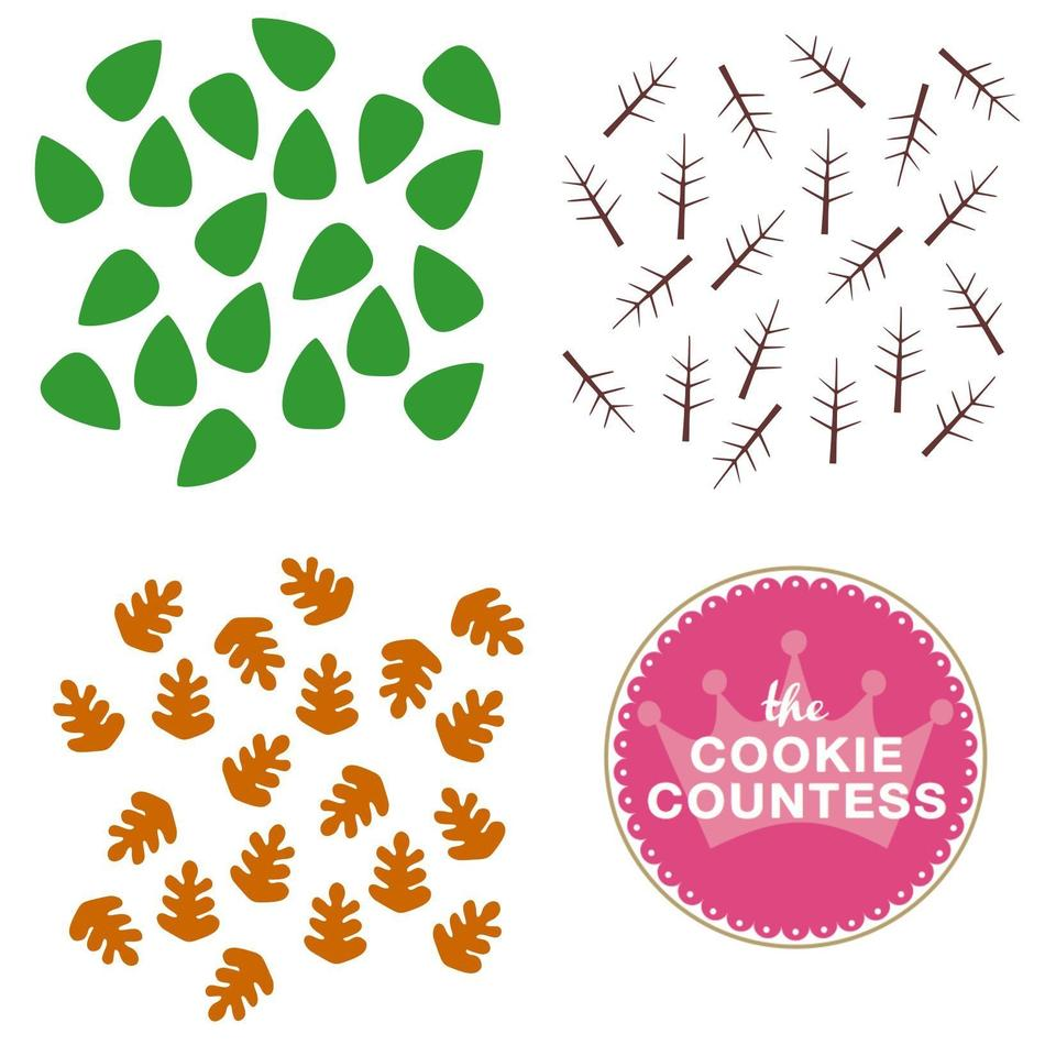3 Piece Leaves Stencil