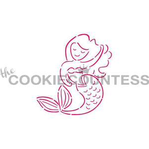 Mermaid PYO Stencil