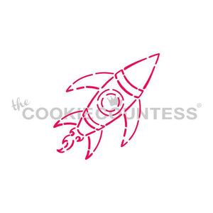 Rocket Ship PYO Stencil