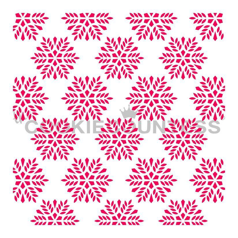 Snowflakes Background Stencil
