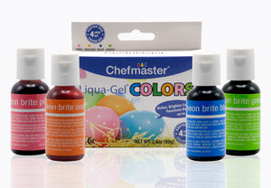 LIQUA-GEL® 4 Color Kit Easter 20ml Food Coloring
