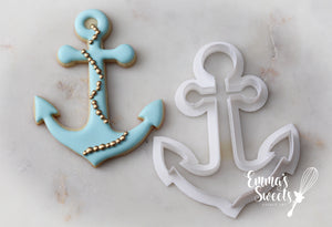 Large Anchor Cookie Cutter 5""