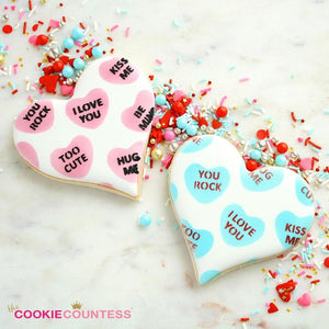 Mini Conversation Hearts ( 2 piece) Stencil