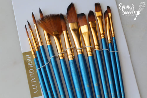 12 Pcs Artist Paint Brushes - BLUE