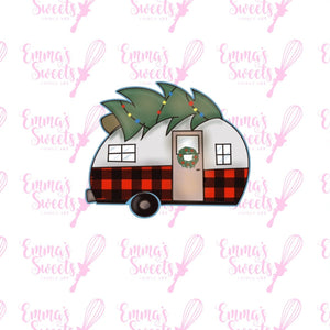 Camper with Christmas Tree