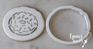 Sprinkled Donut Stencil Cutter