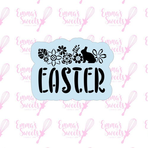 Easter Script With Floral Cookie Cutter