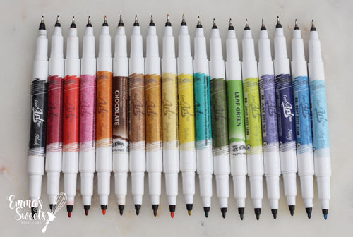 EDIBLE MARKERS/EDIBLE PENS by Rainbow Dust - Double Sided