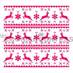 Fair Isle Sweater Stencil