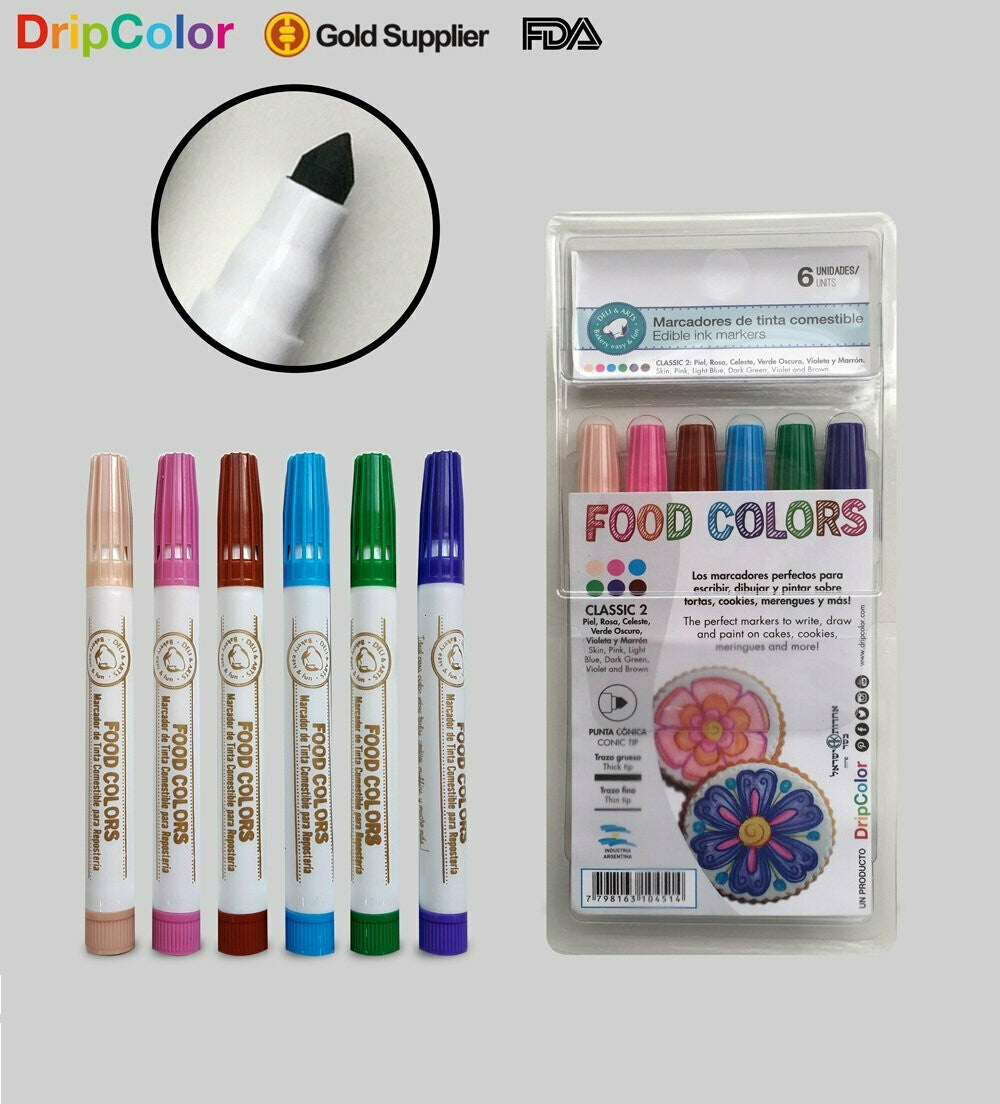 Food Colors Classic 2-  6 pack by DripColour