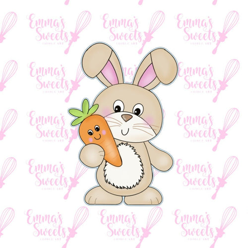 Happy Bunny With Carrot