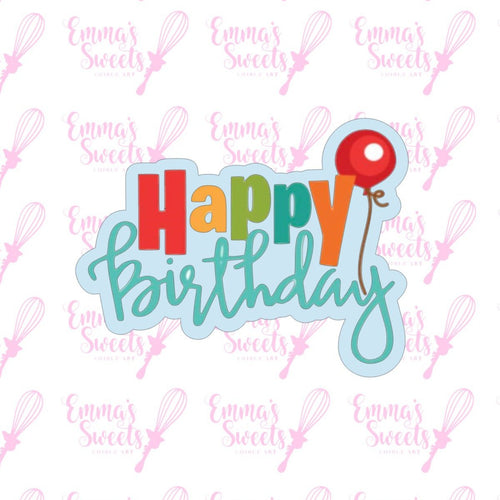 Happy Birthday w/Balloon Plaque