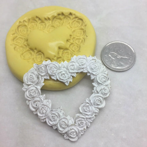 Heart Flower Frame Silicone Mold