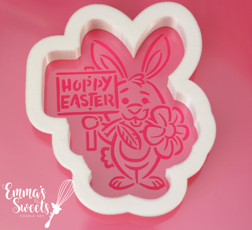 Bunny and Sign Cookie Cutter