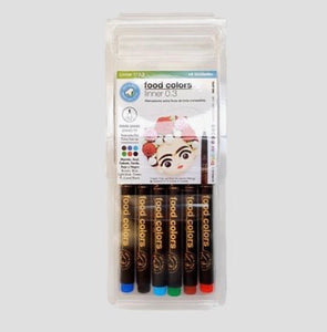 DripColor Fine Line Food Markers 6 pack