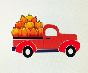 Pick Up Truck with Pumpkins